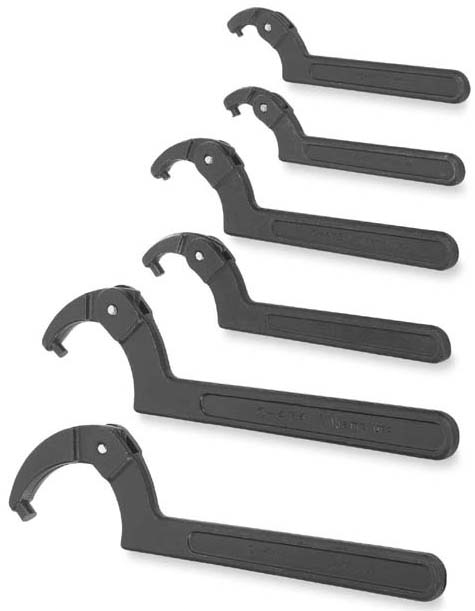 Williams Tools - O-472A - Spanner Wrench - Pin Style, 1-1/4 to 3 in Capacity, Black Oxide Finish, 6-7/8 in OAL